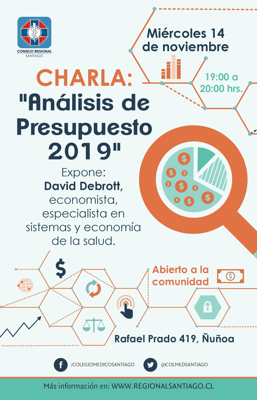 Volante - Charla analisis de presupuesto 2019